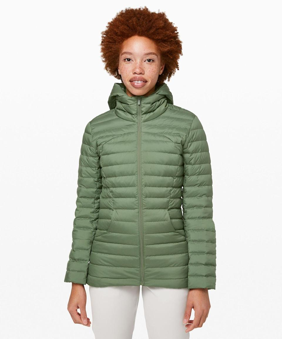 """<p><strong>Lululemon</strong></p><p>lululemon.com</p><p><a href=""""https://go.redirectingat.com?id=74968X1596630&url=https%3A%2F%2Fshop.lululemon.com%2Fp%2Fjackets-and-hoodies-jackets%2FPack-It-Down-Jacket-MD%2F_%2Fprod9090534&sref=https%3A%2F%2Fwww.seventeen.com%2Ffashion%2Fg34017122%2Flululemon-sale-we-made-too-much%2F"""" rel=""""nofollow noopener"""" target=""""_blank"""" data-ylk=""""slk:Shop Now"""" class=""""link rapid-noclick-resp"""">Shop Now</a></p><p><strong><del>$139 </del>$108 (27% off)</strong></p><p>In the iconic words of House Stark, winter is coming. Not only will this jacket keep you warm in the colder months, but it's can also be packed down into a small pouch.</p>"""