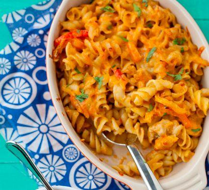 """<strong>Get the <a href=""""http://www.annies-eats.com/2013/01/31/chicken-fajita-mac-and-cheese/"""" target=""""_blank"""">Chicken Fajita Mac & Cheese recipe</a> from Annie's Eats</strong>"""