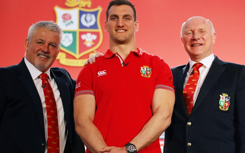 Warren Gatland, Sam Warburton and John Spencer - Credit: Getty Images