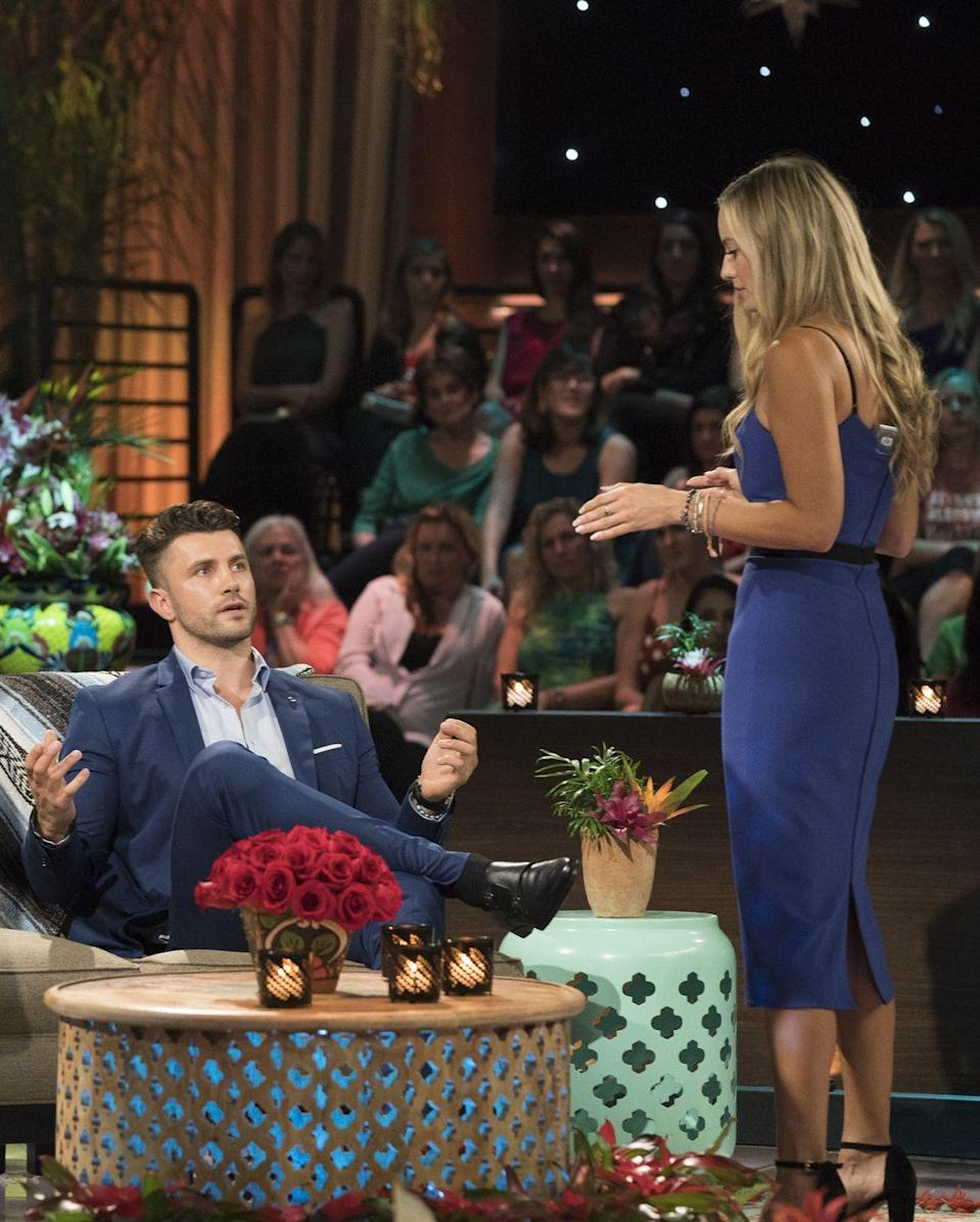 <p>In season 5, Annaliese and Kamil left paradise in a committed relationship—which made fans and cast members alike all the more shocked and appalled when Kamil decided to end things at the reunion...in front of a live audience. It was...awkward.</p>