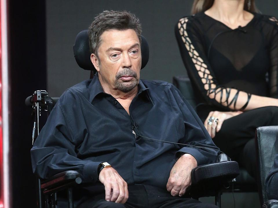 Tim Curry at a 'Rocky Horror' panel in 2016 (Frederick M Brown/Getty Images)