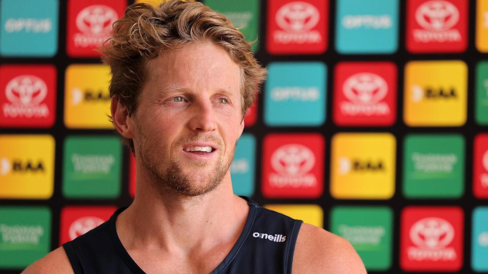 Rory Sloane will captain the Adelaide Crows again for the 2021 season. (Photo by Daniel Kalisz/Getty Images)