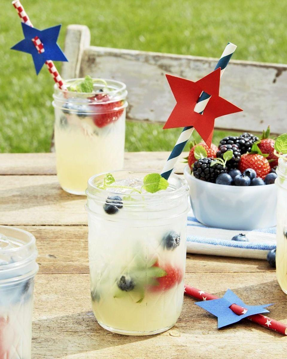 """<p>Great lemonade never goes out of style (especially when you pair it with some patriotic red and blue berries). </p><p><strong><em>Get the recipe at <a href=""""https://www.countryliving.com/food-drinks/a21348860/old-fashioned-lemonade-recipe/"""" rel=""""nofollow noopener"""" target=""""_blank"""" data-ylk=""""slk:Country Living"""" class=""""link rapid-noclick-resp"""">Country Living</a>. </em></strong></p>"""