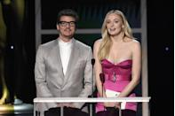 <p>Sophie Turner had more than one GOT reunion at the 2020 SAG awards, joining her former co-star Pedro Pascal - aka Oberyn Martell - to present Michelle Williams with the Outstanding Performance by a Female Actor in a TV Movie or Miniseries award.</p>