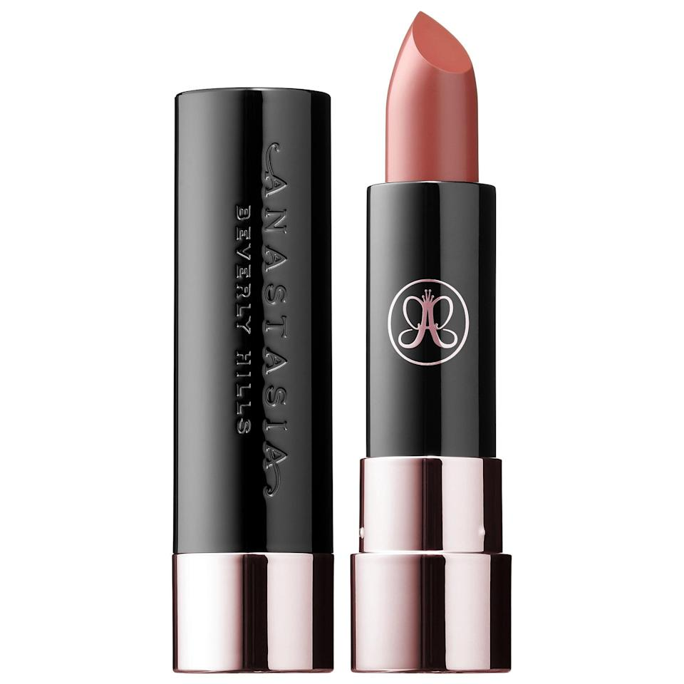 "<p>For a full-pigmented, ultramatte lipstick, look no further than the <a href=""https://www.popsugar.com/buy/Anastasia-Beverly-Hills-Matte-Lipstick-584144?p_name=Anastasia%20Beverly%20Hills%20Matte%20Lipstick&retailer=sephora.com&pid=584144&price=18&evar1=bella%3Aus&evar9=41950877&evar98=https%3A%2F%2Fwww.popsugar.com%2Fbeauty%2Fphoto-gallery%2F41950877%2Fimage%2F47567882%2FAnastasia-Beverly-Hills-Matte-Lipstick&list1=makeup%2Ceyebrows%2Cbeauty%20shopping%2Canastasia%20beverly%20hills&prop13=mobile&pdata=1"" class=""link rapid-noclick-resp"" rel=""nofollow noopener"" target=""_blank"" data-ylk=""slk:Anastasia Beverly Hills Matte Lipstick"">Anastasia Beverly Hills Matte Lipstick </a> ($18). The creamy formula goes on smooth and coats your lips with long-lasting color. </p>"