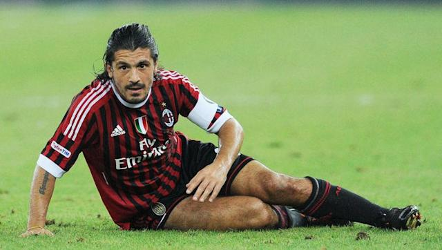 <p>Signed from Salernitana in 1999, Gattuso made 468 appearances in all competitions for Milan, and scored 11 goals in the process.</p> <br><p>For what he lacked in quality, he more than made up for in his work rate and proved to be an integral part of Milan's side for 13 seasons.</p>
