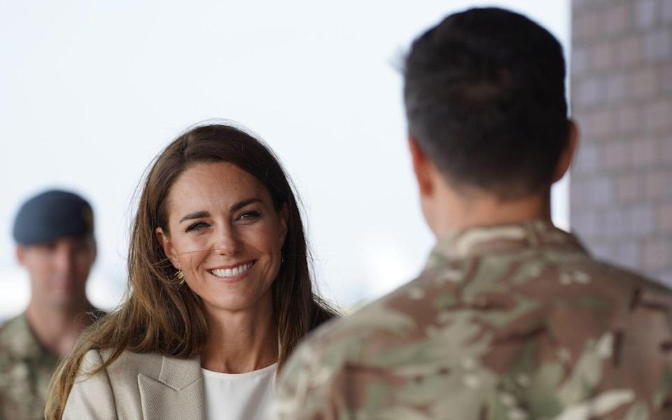 The Duchess of Cambridge visits RAF Brize Norton to meet those involved in Operation Pitting - Steve Parsons/PA