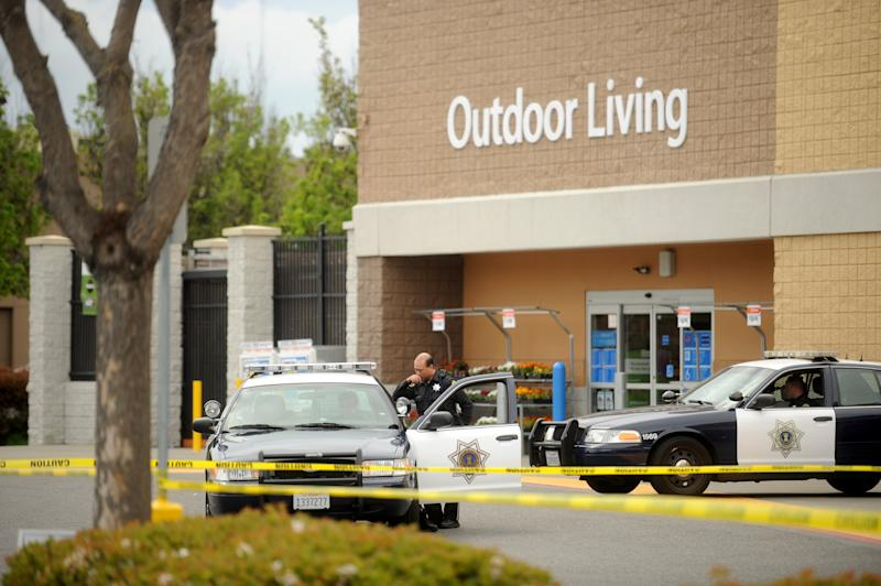 Man rams car into Calif. Wal-Mart, 4 injured