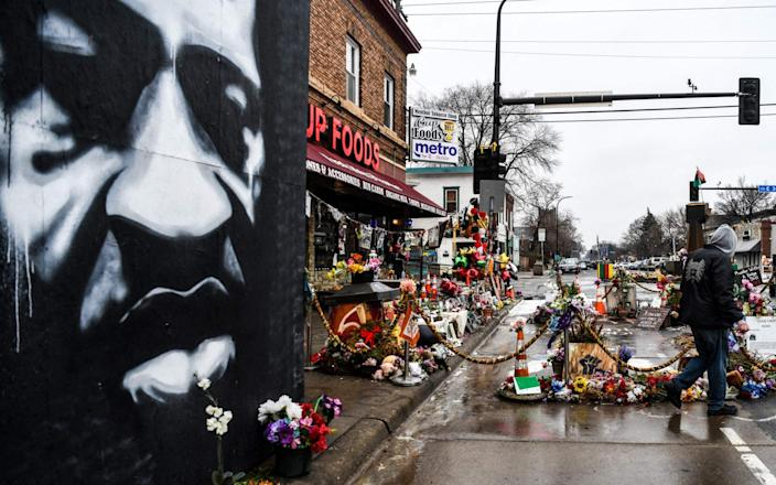 George Floyd Square has become a makeshift memorial to the racial justice movement - Chandan Khanna/AFP