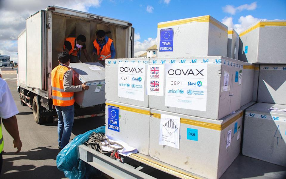 Vaccines donated via Covax arrive in Madagascar - Mamyrael/AFP