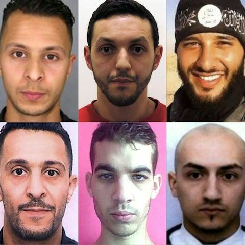 Isil jihadists involved in the November 13 terror attacks in Paris.