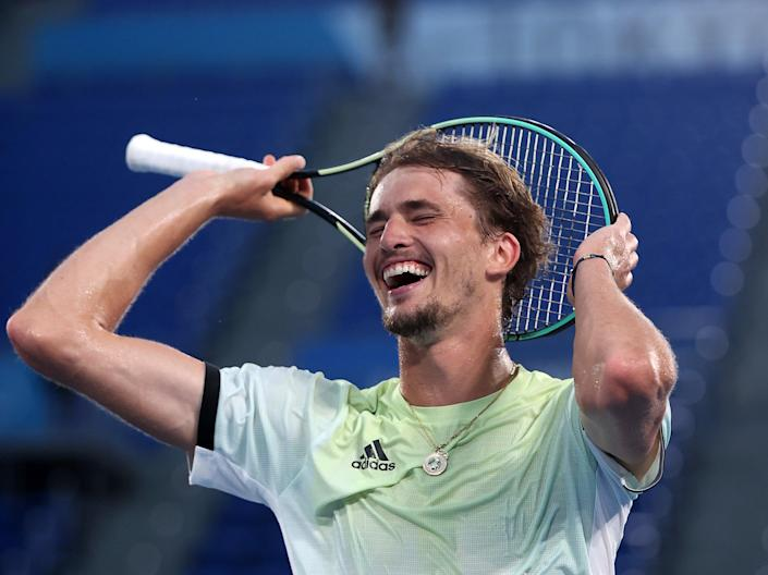 World No5 Alexander Zverev wins gold for Germany (Getty Images)