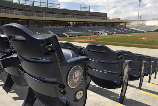 The Reno Aces have hired Emily Jaenson as their GM. (AP Photo/Reno Gazette-Journal, Tim Dunn)