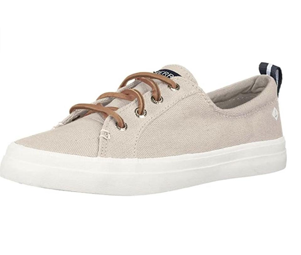 <p>Finish off your denim or shorts ensembles with these comfy-looking <span>Sperry Crest Vibe Sneakers</span> ($32 - $174).</p>