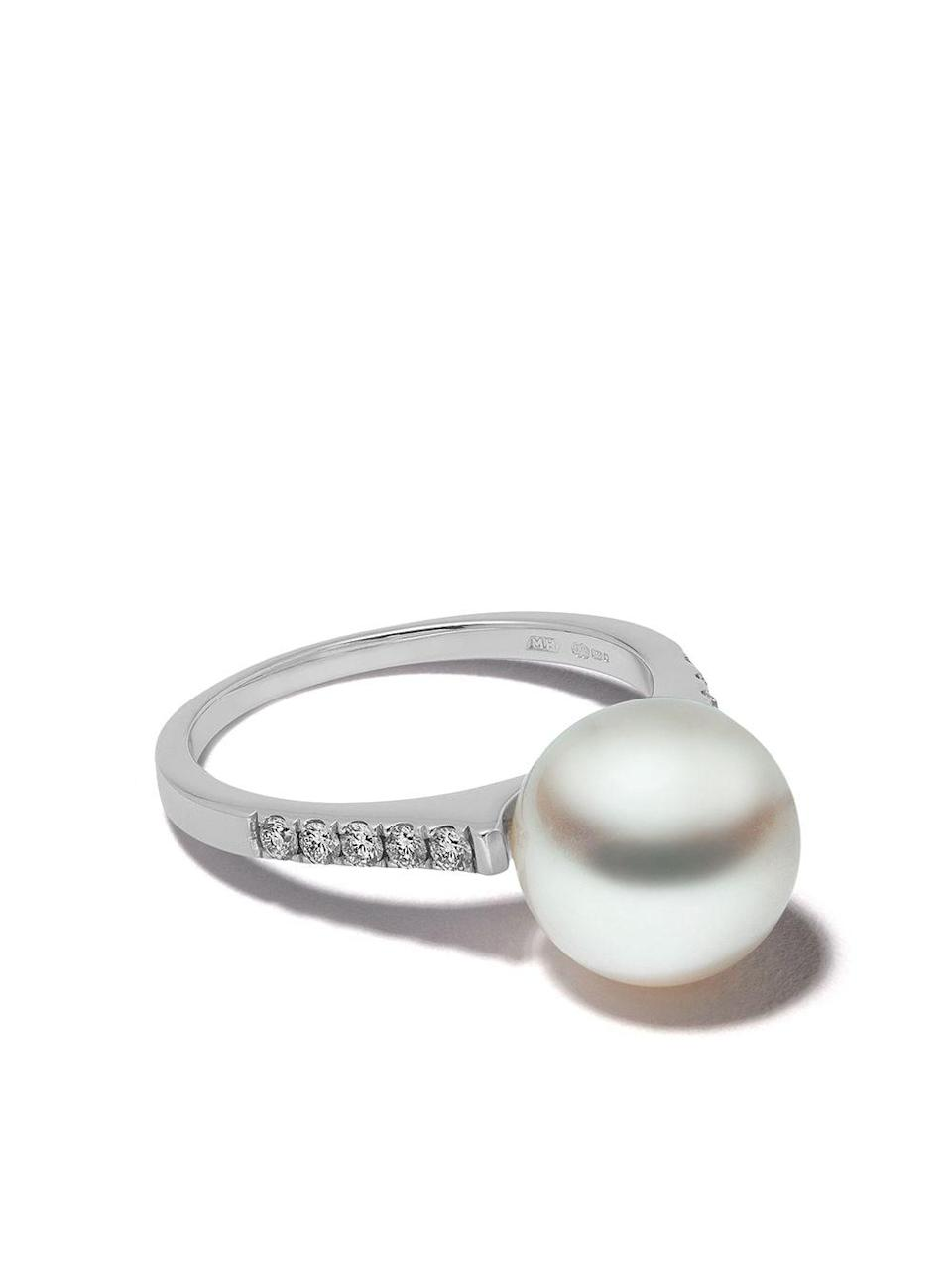 "<br><br><strong>Yoko London</strong> 18kt White Gold Classic Freshwater Pearl And Diamond Ri, $, available at <a href=""https://go.skimresources.com/?id=30283X879131&url=https%3A%2F%2Fwww.farfetch.com%2Fshopping%2Fwomen%2Fyoko-london-18kt-white-gold-classic-freshwater-pearl-and-diamond-ring-item-14619479.aspx%3Fstoreid%3D12325"" rel=""nofollow noopener"" target=""_blank"" data-ylk=""slk:Farfetch"" class=""link rapid-noclick-resp"">Farfetch</a>"