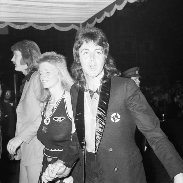 Sir Paul and Linda McCartney at the premiere of 1973 Bond film Live and Let Die