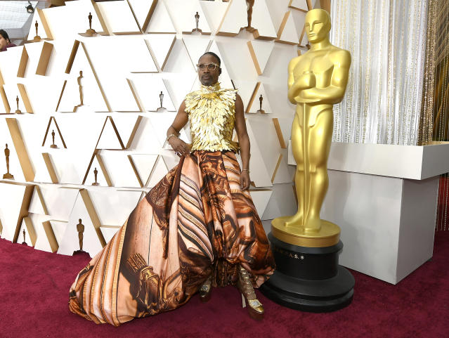 Billy Porter at the 92nd Annual Academy Awards in February, wowing in a gown inspired by Kensington Palace. (Photo: Kevork Djansezian/Getty Images)
