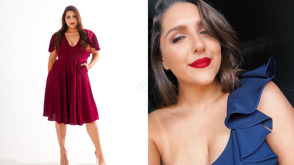 Adelaide woman Alexia Frangos started a curvy clothing-hire business. Here's how. Source: Supplied