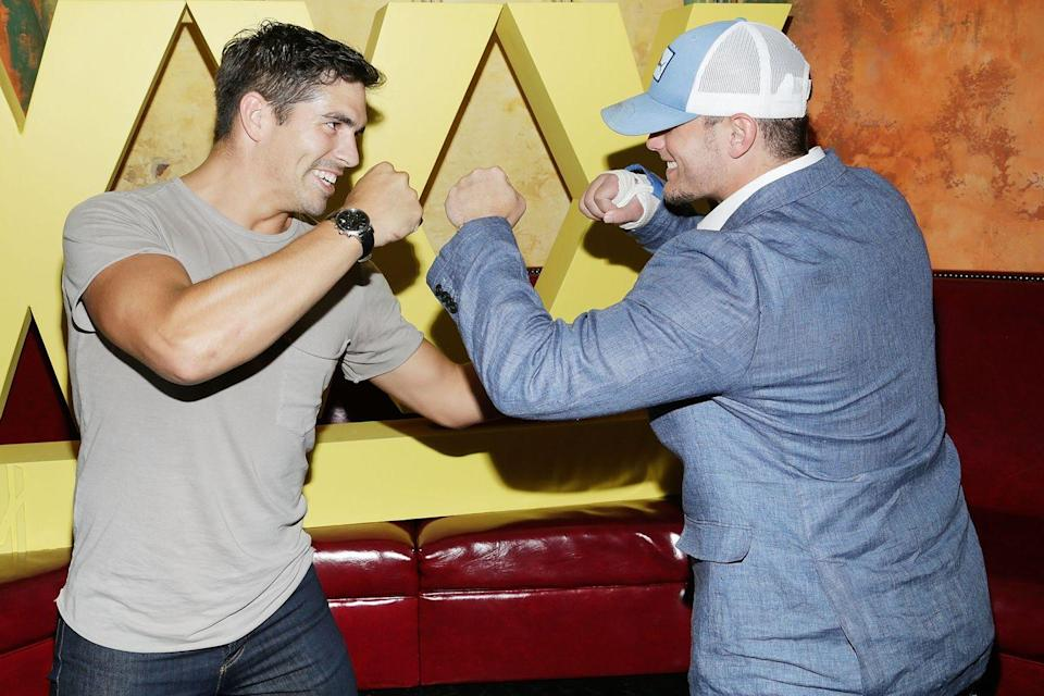 """<p>The show is a physical competition between athletes, so producers have to make sure no one gets an advantage over others. """"We have to know what's in everything,"""" Julie Pizzi told <a href=""""https://www.eonline.com/news/1016548/surprise-bromances-contraband-and-playing-favorites-revealing-every-secret-of-mtv-s-the-challenge"""" rel=""""nofollow noopener"""" target=""""_blank"""" data-ylk=""""slk:E! News"""" class=""""link rapid-noclick-resp""""><em>E! News</em></a>. """"So if they have protein pills, if we don't know what it is, we won't let them take it in the house. We basically take almost everything unless it's a very familiar brand.""""</p>"""