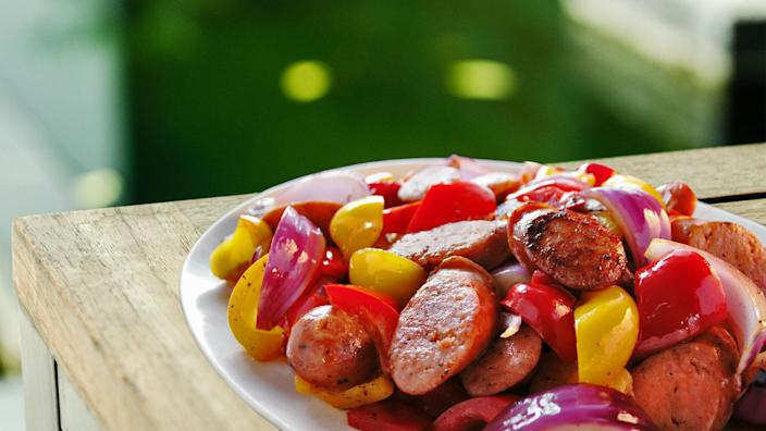 sauteed Turkey Sausage (Shutterstock/Getty Images stock)