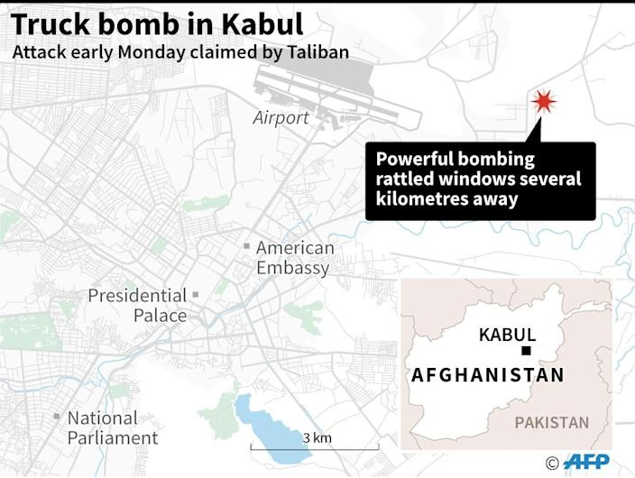 The guests and staff of the Northgate hotel were unharmed by the truck bomb in Kabul (AFP Photo/)