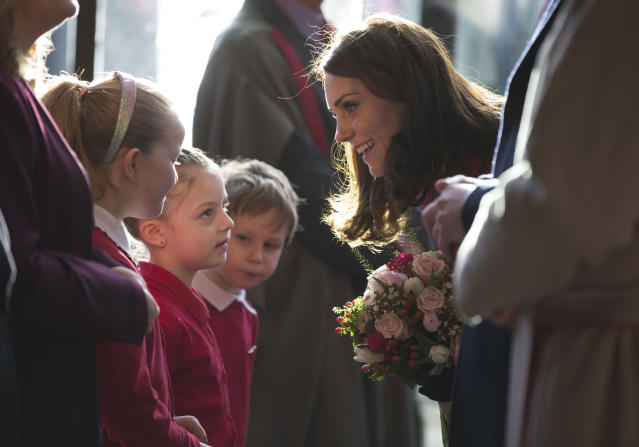 The Duchess of Cambridge is launching a new mental health initiative for children. (Photo: Getty)