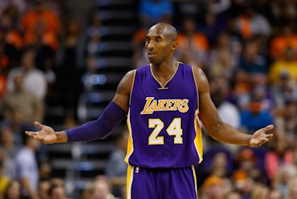 Kobe Bryant and the Lakers are off to an 0-4 start. (Getty Images)