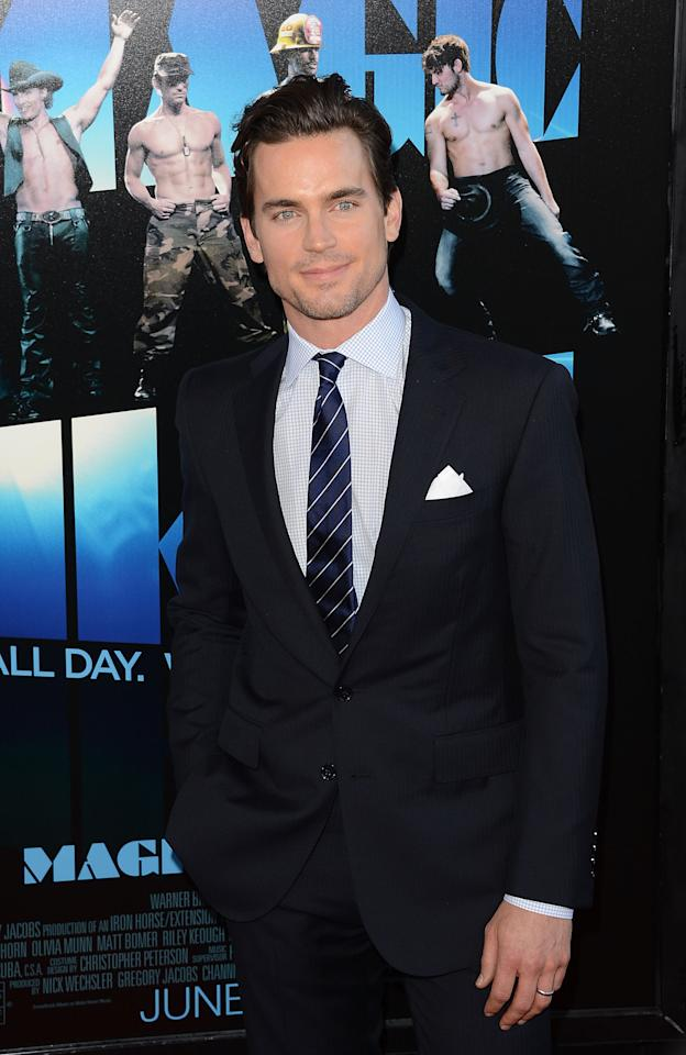 LOS ANGELES, CA - JUNE 24:  Actor Matt Bomer arrives at the closing night gala premiere of 'Magic Mike' at the 2012 Los Angeles Film Festiva held at Regal Cinemas L.A. Live on June 24, 2012 in Los Angeles, California.  (Photo by Jason Merritt/Getty Images)