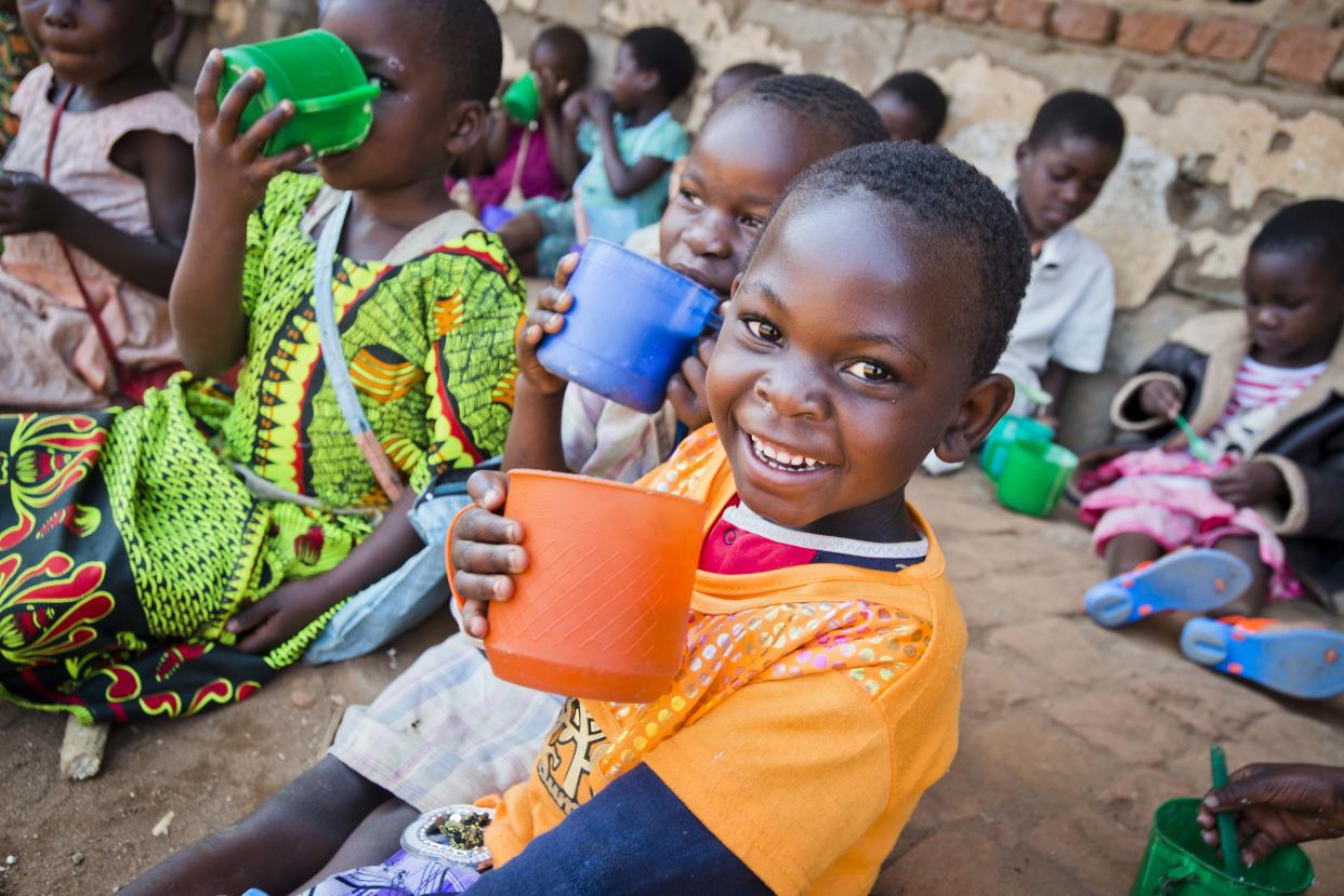 A child in Malawi who receives Mary's Meals