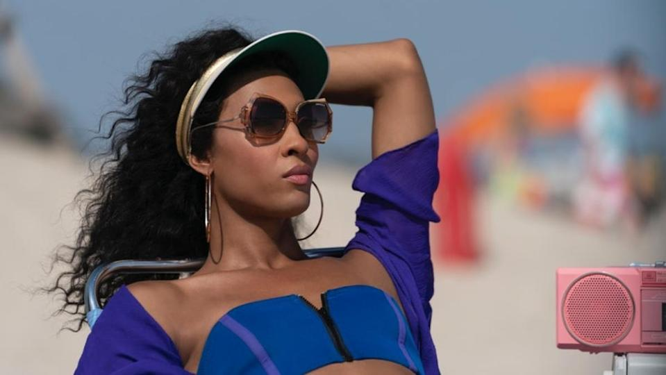 photo of Blanca from Pose lounging on the beach