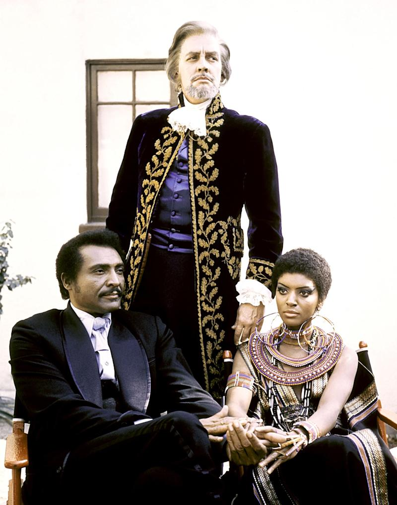 Blacula, 1972 Costume Designers: Ermon Sessions and Sandra Stewart What happens when you mix blaxploitation and horror? You get some of the funkiest costumes to grace the screen. More than your average undead antihero, Prince Mamuwalde manages to look smooth in a black silk cape and ruffled cravat while his lady love, Luva, wears the best in '70s-style Afrocentric fashions.