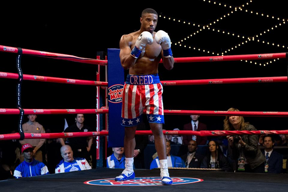 Michael B Jordan as Adonis Creed in Creed II. (Warner Bros)