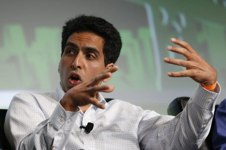 Salman Khan, the founder and executive director of Khan Academy, speaks on stage during day one of TechCrunch Disrupt SF 2012 event at the San Francisco Design Center Concourse in San Francisco, California on September 10, 2012. (Photo: Stephen Lam/Reuters)