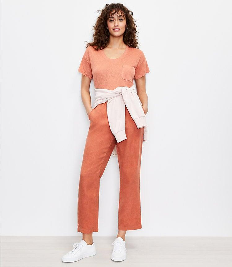 <p>Go for a more dressed up lounge-look with the <span>Lou &amp; Grey Softstretch Linen Pants</span> ($80).</p>