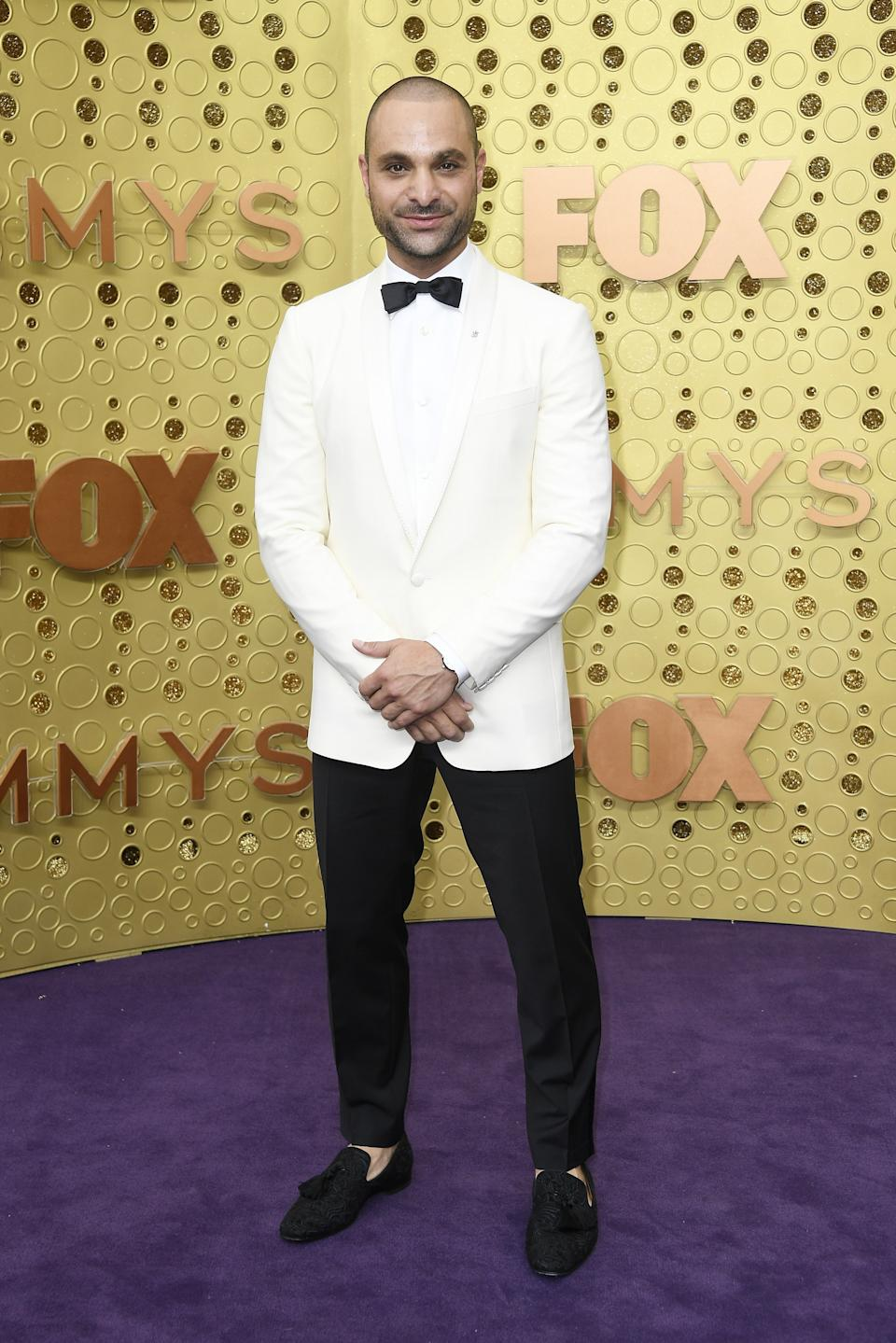 """<h1 class=""""title"""">Michael Mando in Christian Louboutin shoes and Montblanc jewelry</h1><cite class=""""credit"""">Photo: Getty Images</cite>"""