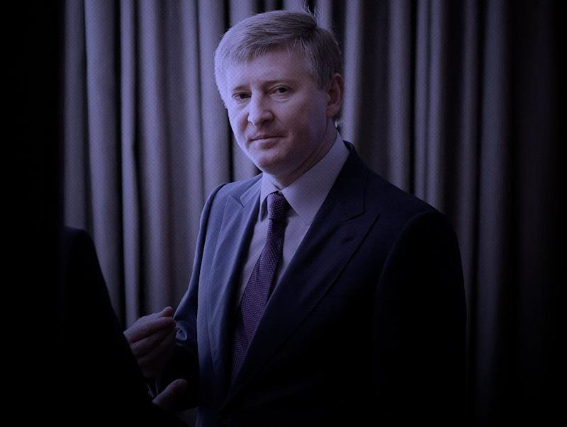 Ukrainian oligarchRinat Leonidovych Akhmetov is another former client of Manafort's. (Photo: HuffPost Illustration/Getty Images)