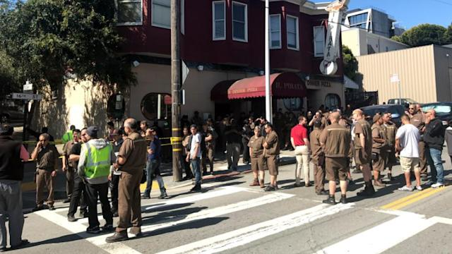 <p>The shooting occurred in the area of a United Parcel Service facility in San Francisco. (KABC – Los Angeles) </p>