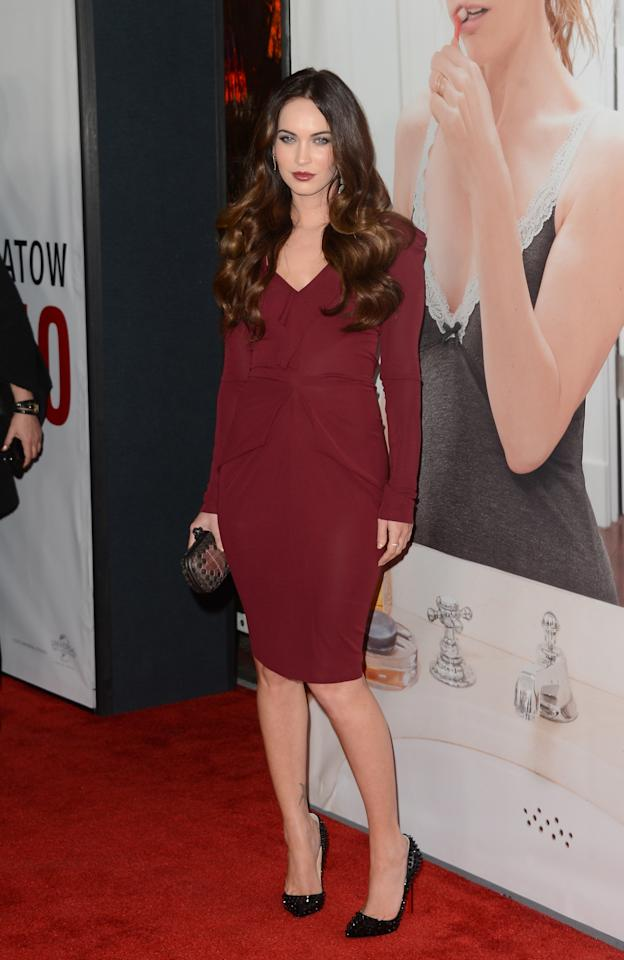 HOLLYWOOD, CA - DECEMBER 12:  Actress Megan Fox attends the premiere of Universal Pictures' 'This Is 40' at Grauman's Chinese Theatre on December 12, 2012 in Hollywood, California.  (Photo by Jason Merritt/Getty Images)