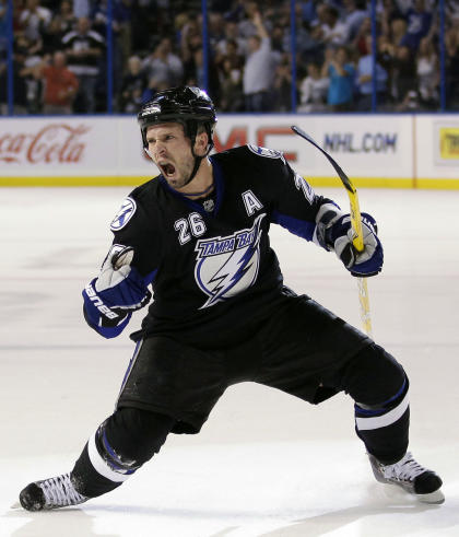 St-Louis won a Hart Trophy, two scoring titles and a Stanley Cup with the Lightning. (AP)