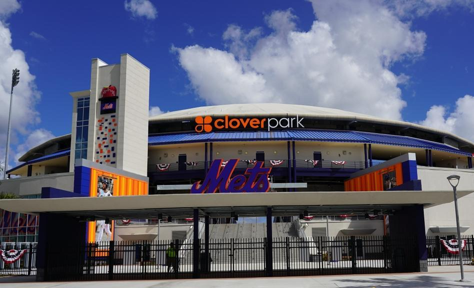 Mets spring training/minor league ballpark Clover Park external view in 2020