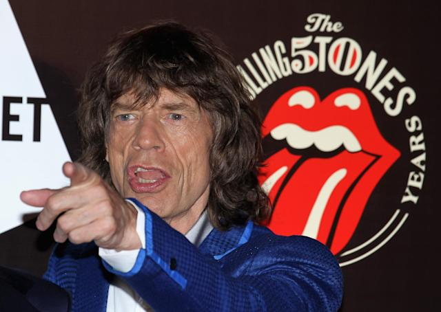 LONDON, ENGLAND - JULY 12: Mick Jagger attends as The Rolling Stones celebrate their 50th anniversary with an exhibition at Somerset House on July 12, 2012 in London, England. (Photo by Chris Jackson/Getty Images)