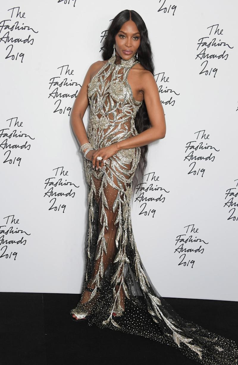 Icon: Naomi Campbell was recently lauded at the Fashion Awards (Dave Benett)