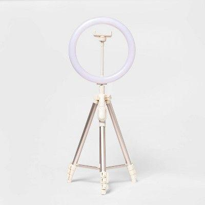 """<p><strong>Heyday</strong></p><p>target.com</p><p><strong>$29.99</strong></p><p><a href=""""https://www.target.com/p/heyday-8482-ring-light-with-tripod-stone-white/-/A-81504272"""" rel=""""nofollow noopener"""" target=""""_blank"""" data-ylk=""""slk:Shop Now"""" class=""""link rapid-noclick-resp"""">Shop Now</a></p><p>No TikTok set-up is complete without a ring light, and that's just a fact. We don't make the rules, K?</p>"""