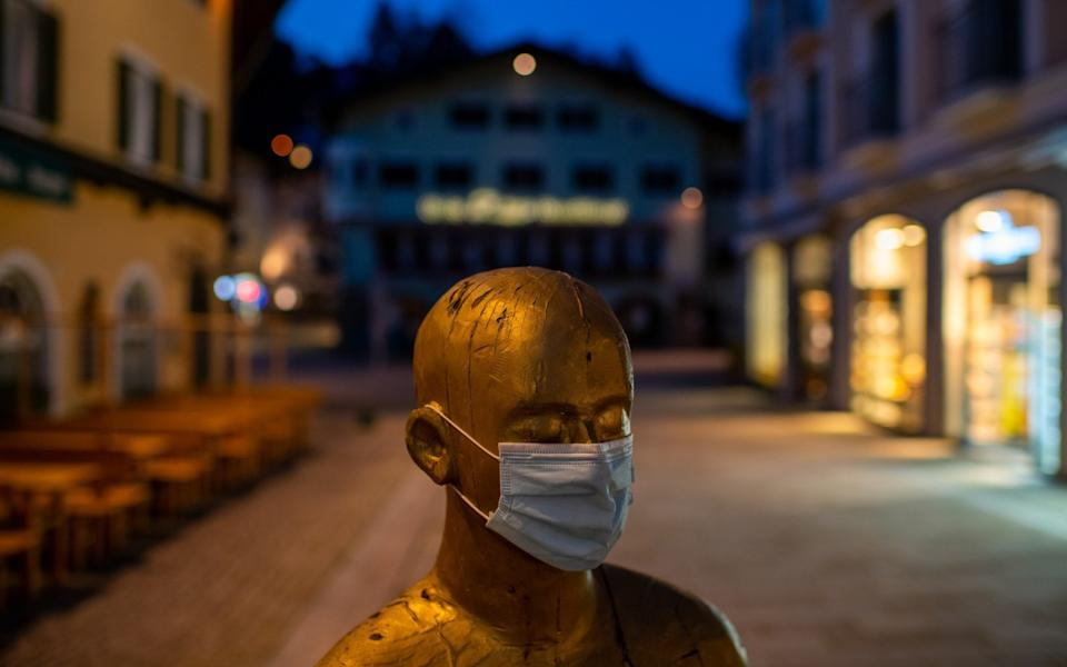 The deserted central pedestrian zone in Berchtesgaden, Germany - Getty