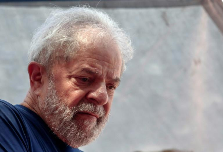 Dozens of prominent Argentine personalities signed a petition to in support of jailed Brazilian leftist icon Lula (pictured April 2018)