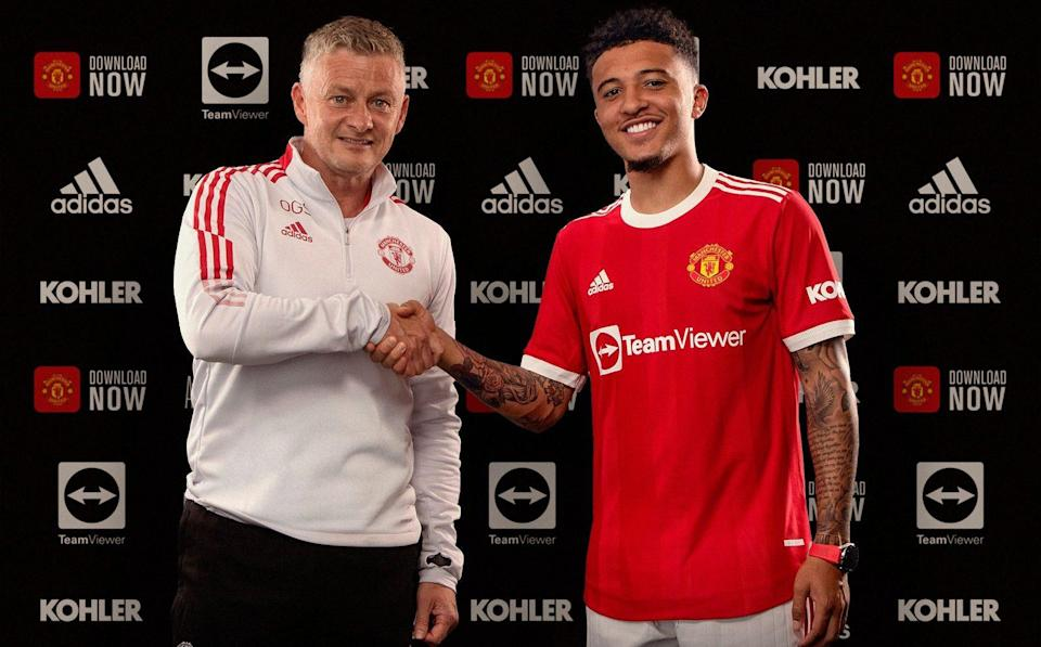 Jadon Sancho has joined Manchester United from Borussia Dortmund - GETTY IMAGES