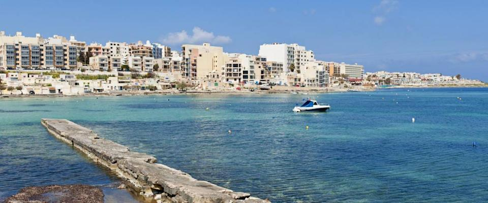 <cite>Allard One / Shutterstock</cite> <br>You can rent an apartment in Qawra, Malta, for $450 a month.<br>