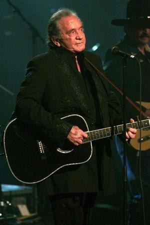 Legendary country music singer Johnny Cash died early September 12, 2003 in a Nashville, Tennessee hospital. REUTERS/Jeff Christensen-Files
