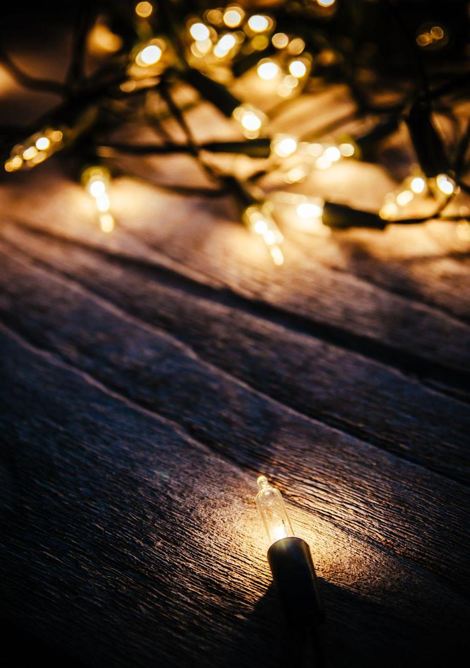 """<p>With so many <a href=""""https://www.countryliving.com/gardening/news/g3404/backyard-string-lights/"""" rel=""""nofollow noopener"""" target=""""_blank"""" data-ylk=""""slk:dreamy ways to decorate"""" class=""""link rapid-noclick-resp"""">dreamy ways to decorate</a> year-round with twinkly lights, why settle for standard strands when bulbs now come in so many different <a href=""""https://www.countryliving.com/home-design/decorating-ideas/g2794/decorating-ideas-christmas-lights/"""" rel=""""nofollow noopener"""" target=""""_blank"""" data-ylk=""""slk:magical styles"""" class=""""link rapid-noclick-resp"""">magical styles</a>. </p>"""
