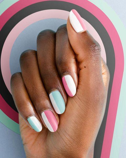"""<p>Pink and blue compliment each other so well, especially in these pretty pastel hues.</p><p><a href=""""https://www.instagram.com/p/CLBsAsSMaUP/"""" rel=""""nofollow noopener"""" target=""""_blank"""" data-ylk=""""slk:See the original post on Instagram"""" class=""""link rapid-noclick-resp"""">See the original post on Instagram</a></p>"""